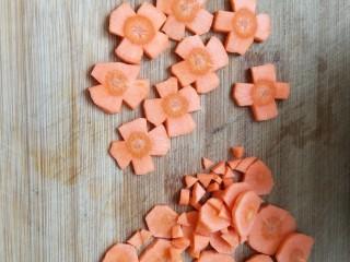 凉拌果蔬苦菊,切成花朵