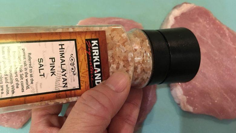 起司猪排,抹盐