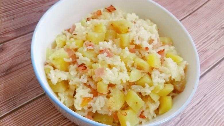 培根土豆饭(电饭锅版)