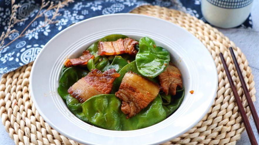 扁豆炒五花肉