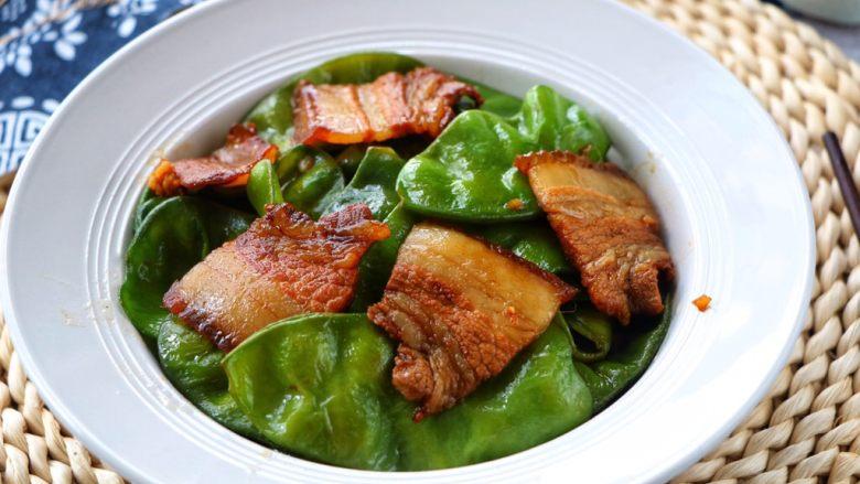 扁豆炒五花肉,出锅好香的