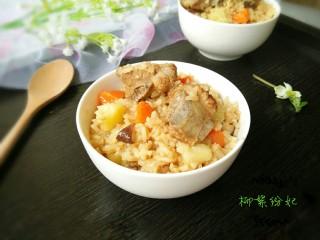 排骨土豆焖饭,香喷喷的焖饭,出锅了!