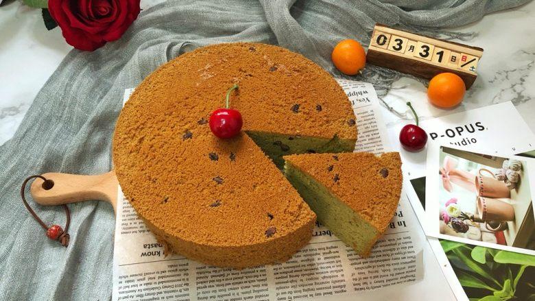 蜜豆抹茶戚风蛋糕