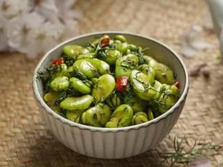 茴香蚕豆,美味的茴香蚕豆就做好了!