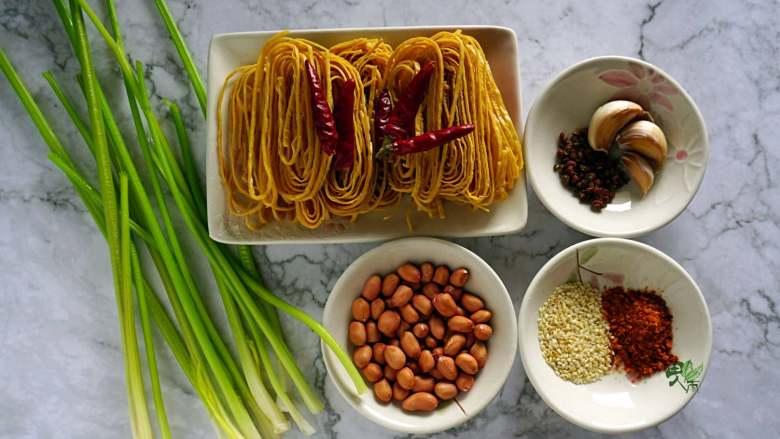 春日营养轻食之清爽拌云丝, 准备食材。