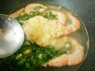 #辅食计划#莴苣叶鲜虾米汤,再加一碗小米粥