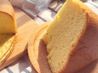 宝宝辅食12M➕:8寸戚风蛋糕,成品图