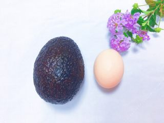 牛油果太阳蛋,准备食材