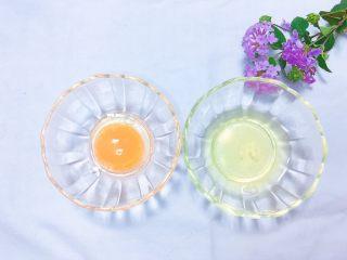 牛油果太阳蛋,蛋清,蛋黄分离