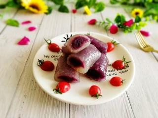 辅食计划+水晶紫薯卷,成品图