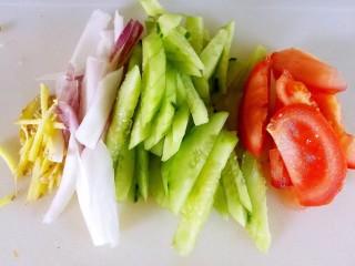 吃出好身材,三文鱼沙拉晚餐,切片,备用