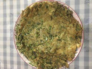 香椿芽鸡蛋饼,完美