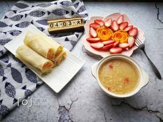 春饼卷三丝,美味的早餐
