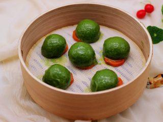 清新碧绿的青叶汁黑芝麻豆沙青团,是不是很美腻