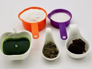 清新碧绿的青叶汁黑芝麻豆沙青团,备齐所有食材