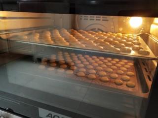 童年蛋黄小饼干,我是两层同烤,开热循环风模式,150度烤20分钟,中途换位置,如果你的烤箱没有热循环风模式请按单层150度烘烤30分钟