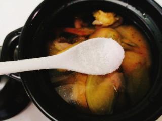辅食计划+乳鸽红菇汤,加入适量盐
