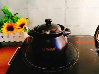 辅食计划+乳鸽红菇汤,放在电陶炉上,调大火煮开