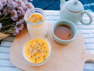 百香果奶冻,搭配一杯红茶,就是美美的下午茶哦