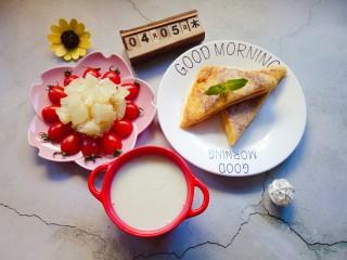火腿西多士,美味的早餐就做好了。