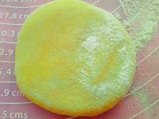 果蔬造型馒头,取黄色面团