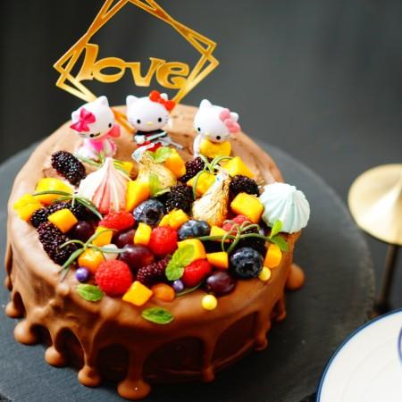 六寸巧克力淋面慕斯蛋糕