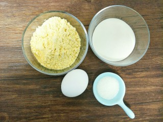 淡奶油玉米饼,食材合影