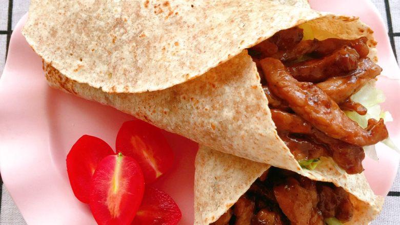 10分钟快手早餐💕全麦牛肉卷