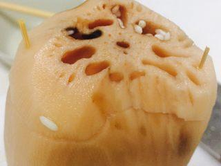 糯米藕,用牙签封口