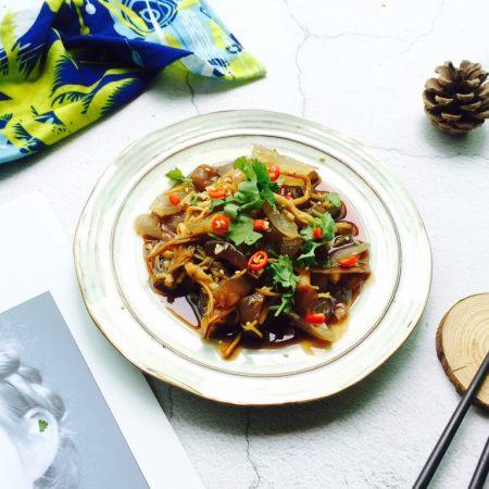#菌类料理#金针菇拌海蜇