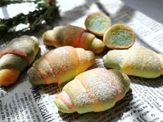 春之色~彩虹面包卷,成品图!