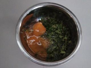 香椿+鹅蛋,打入鹅蛋