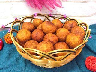 炸红薯丸子,柔软的口感,淡淡的香甜好吃的停不下来