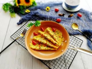 快手早餐+葱花鸡蛋饼,成品图