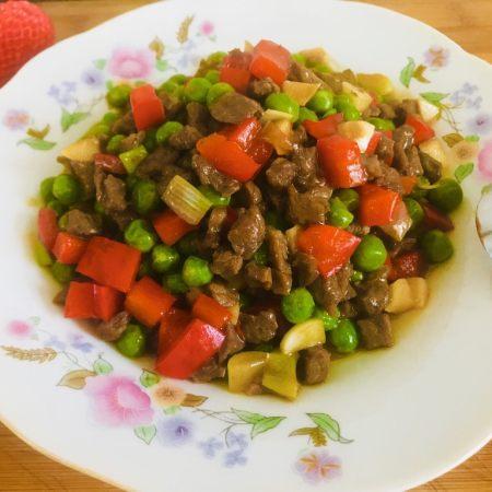 青豆牛肉粒
