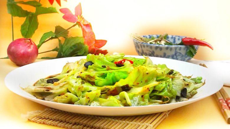 四季菜@豆豉炝炒圆白菜