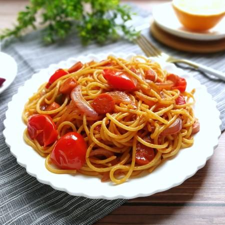 番茄火腿炒意面