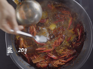 1分钟学会夜宵届扛把子『卤味麻辣小龙虾』,加20g盐
