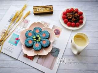 花朵寿司【蓝色系】,美美哒早餐。