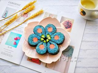 花朵寿司【蓝色系】, 摆盘