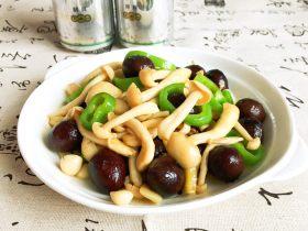 菌类料理+白玉菇烧香卤鹌鹑蛋