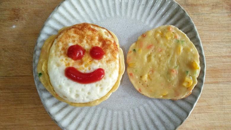 什锦蛋黄堡,给自己一个笑脸,一天都有好的心情。