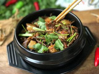 #菌类料理# 麻辣茶树菇干锅,麻辣鲜香有嚼劲,真的超级好吃