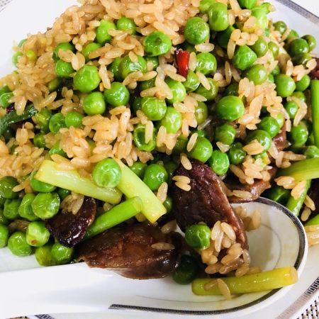 家乡腊肠豌豆饭🍚🥢