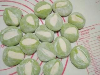翡翠白玉蒸饺,面饼
