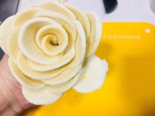 空气炸锅版玫瑰吐司,用心形一片一片包围起来