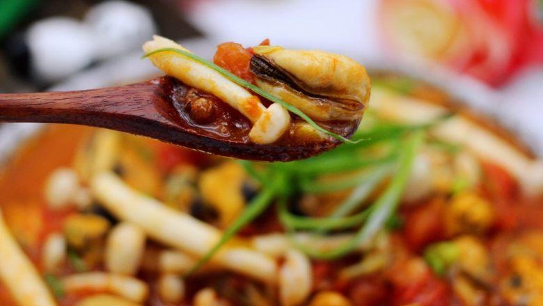 家常小炒白玉菇番茄青口肉,吃上一口超级满足