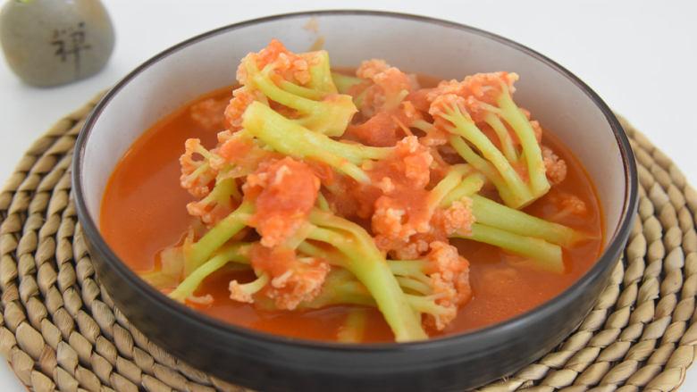 酸酸甜甜、开胃生津,做法又极其简单的茄汁花菜
