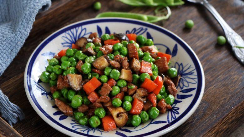 肉末豌豆炒时蔬,超级美味,孩子很喜欢吃