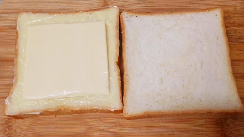 野餐三明治,剩下的两片吐司片也按4-6步骤处理。